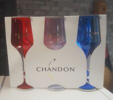 MOET CHANDON CHAMPAGNE BOX OF 6 COLOURED ACRYLIC GOBLETS  B/NEW PUB/BAR/MANCAVE