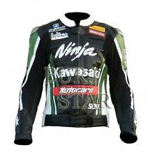 Kawasaki Ninja Motorcycle Motorbike Racing Leather Jacket