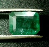 Emerald cut Natural Zambian Green Emerald Loose Gemstone