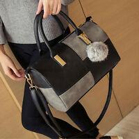 klassisch Damen Kunstleder Handtasche Schulter Portemonnaie Schulranzen Heiß