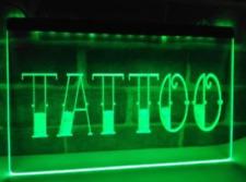 Tattoo Led Sign Parlor Light Open Advertisement
