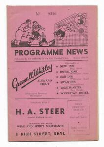 1958/59 Cheshire County League - RHYL v. MOSSLEY