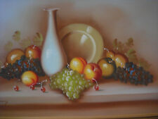 oil painting, still life signed ( vasquez) very large