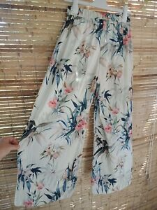 Witchery Pants Size 6 Wide Leg Relaxed Floral Print Boho Summer