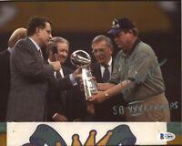 Mike Holmgren SB XXXI Champs Signed 8x10 Photo Autograph Auto BAS Beckett COA *2
