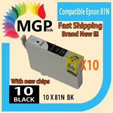 10x Black only Compatible ink cartridge 81N 82N for Epson R290/390 RX590/610