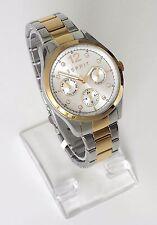 Esprit Damen Uhr silber gold Steine Edelstahl Datum Wochentag 24 h ES106702004