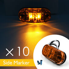 10x AMBER Side Light LED Marker Trailer Truck ABS Clearance Lamp ABS Clearance