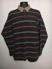 Marlboro Classics Pullover Striped Button Collared Jumper Wool Mix Italy XL VGC