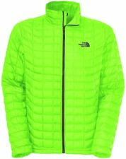 The North Face Mens Thermoball Full Zip Jacket Coat Power Green Large