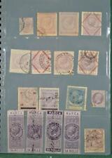 Selección de sellos de Italia de ingresos ect sellos en 6 páginas de libro de stock (N61)