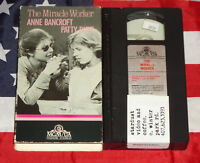 The Miracle Worker (VHS, 1962) Anne Bancroft, Patty Duke, Video Rare Tape