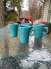 set 4 LATTE MUG CUP turquoise blue FIESTA WARE new