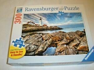 """Ravensburger  300 Piece Puzzle - """"LIGHTHOUSE ROCKS""""  2014 - LARGE PIECE FORMAT"""