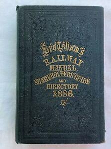 Bradshaws Railway Manual, Shareholders Guide and Directory 1886
