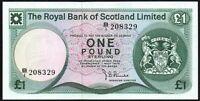 1975 Royal Bank of Scotland Limited £1 Banknote * B/1 208329 * gVF *