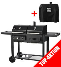 Set-Aktion: Twin Grill T36 - Kombigrill mit Gas und Holzkohle von Chef Centre