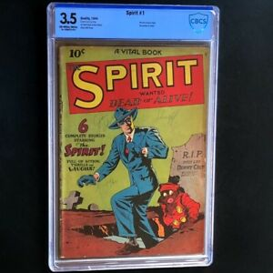 The Spirit #nn (#1) [Quality Comics 1944] 💥 CBCS 3.5 OW-W 💥 Lou Fine Comic