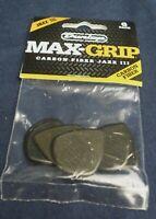 Jim Dunlop Jazz III Max Grip Guitar Picks Plectrums Black Carbon Fibre New 6 pk