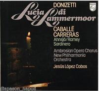 Donizetti: Lucia Di Lammermoor / Caballe, Carreras, Ramey - LP Philips