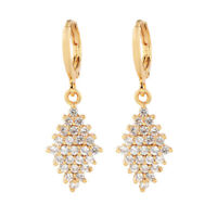 NEW Women Luxury 18K Gold Plated CZ Cubic Zirconia Drop Earrings Jewelry Party