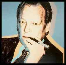 Andy Warhol Willy Brandt Poster Bild Kunstdruck im Alu Rahmen in schwarz 70x70cm
