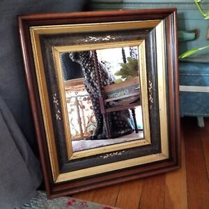 Antique Eastlake Spoon Carved Shadowbox Mirror Frame Victorian Picture Frame