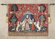 MY ONLY DESIRE - LADY & UNICORN SERIES - BELGIAN LOOM WOVEN TAPESTRY 83 x 68cm