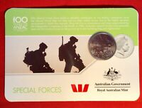 2016 Anzac To Afghanistan 20 Cent Australian Coin Carded Unc. Special Forces