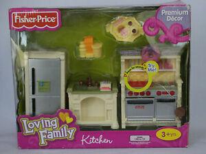 NEW Loving Family Kitchen Set Fridge Stove Sink Premium Doll Dollhouse Furniture
