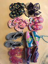Huge Girls Size 9 Shoe Lot D C Sneakers Osh Kosh B Godh Dora & More