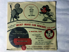 Vintage 1955 Mickey Mouse Club Newsreel Record and Slides A Mattel Toy Series C1