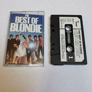 BLONDIE THE BEST OF CASSETTE TAPE 1985 WHITE PAPER LABEL CHRYSALIS UK
