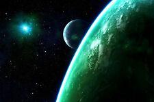 Enmarcado impresión luna creciente del horizonte de la Tierra (imagen cartel espacio)
