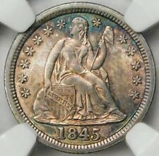R8+NGC MS64 1845 SEATED DIME