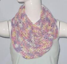 New Handmade Crochet Multi-Color Soft Acrylic Herringbone Chevron Cowl Scarf