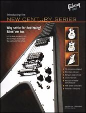 Gibson Flying V New Century Series Guitar 2006 advertisement 8 x 11 ad print