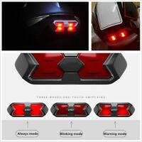Motorcycle Helmet Sticker Night Light Always/Blinking/Warning Modes Safety Lamp