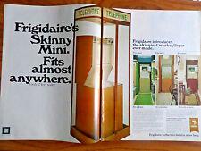1970 Frigidaire Washer Dryer Ad Telephone Booth Skinny Mini