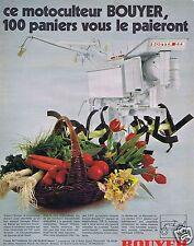 Publicité Advertising 046 1970 Bouyer motoculteur