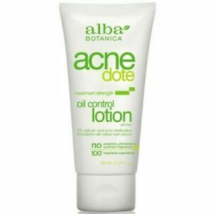 Alba Botanica Acne Dote Oil Control Lotion vegan spots black heads skin oily