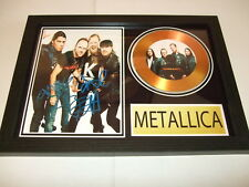 METALLICA  SIGNED  GOLD CD  DISC  15