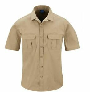 Men's ~PROPPER Summerweight Tactical Khaki Shirt – Short Sleeve~ Size XL - NEW