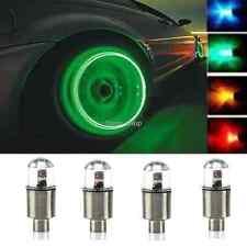 4 X Green LED Car SUV Wheel Tyre Tire Air Valve Stem Caps Decoration Light Lamp