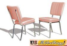 CO25 poussiéreux rose BEL AIR Meuble 2 chaises dîner de cuisine en style Le 50er
