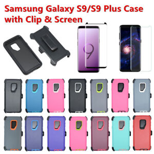 For Samsung Galaxy S9/S9+Plus Defender Case w/Clip fits Otterbox & Screen