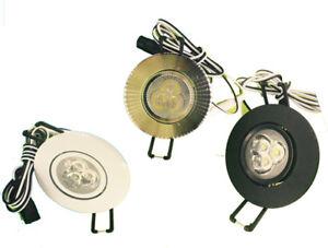 2pcs 2inch DC 12V 3w 3*1w led , led ceiling/puck light,led spotlight, dimmable