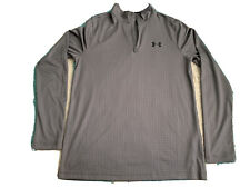 Under armour Heat Gear Long Sleeve Shirt 1/4 Zip Men's Gray - Small