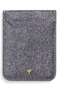 Kate Spade New York 256614 Glitter Triple iPhone Sticker Pocket 2.5x3.25