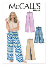 Mccall's Sewing Pattern M7328 Sz 16-26 Misses' Easy Wide-leg Pants 2 Lengths